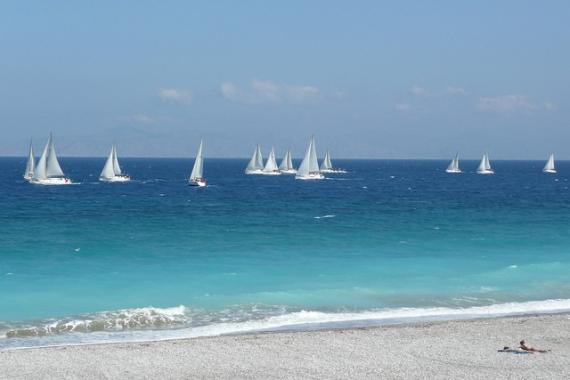 'Global MBA Trophy Yacht Race, off Ixia Beach - Rhodes, 30 April 2011' - Родос